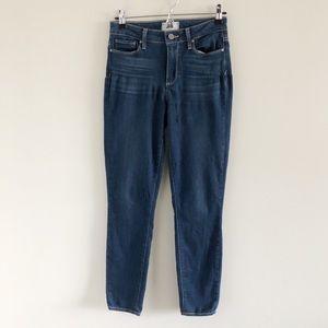 Paige Hoxton Ankle Jeans 25 Trisha Blue Stretch